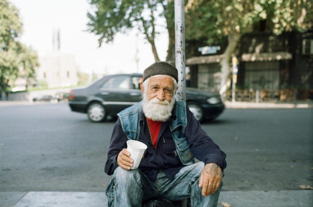 a beggar in the street