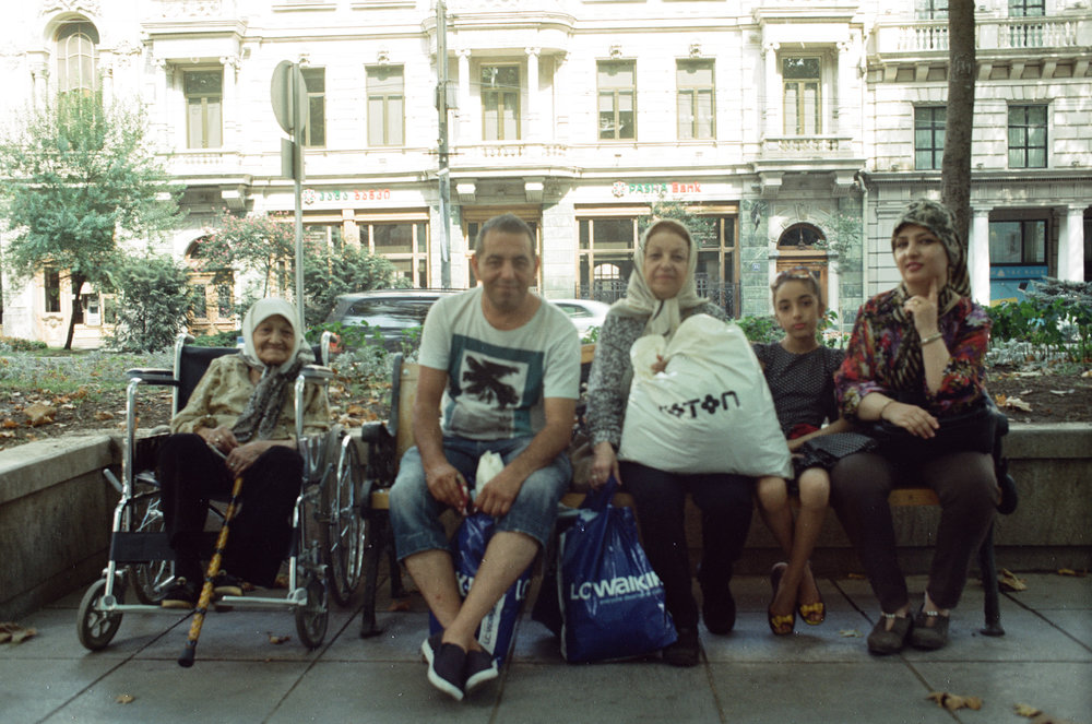 portrait of people in the street